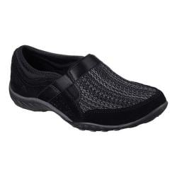 Women's Skechers Relaxed Fit Breathe Easy Deal Me In Slip On Shoe Black