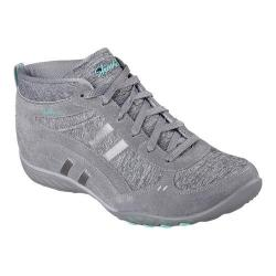 Women's Skechers Relaxed Fit Breathe Easy Shout Out High Top Gray