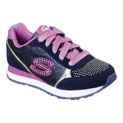 Girls' Skechers Retrospect Gemmy Jam Sneaker Navy/Multi