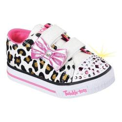 Girls' Skechers Twinkle Toes Shuffles Sparkle Sass Sneaker White/Pink