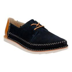 Men's Clarks Brinton Craft Moc Toe Shoe Navy Suede