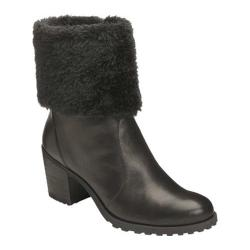 Women's Aerosoles Incognito Fur Collar Boot Black Leather
