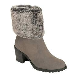 Women's Aerosoles Incognito Fur Collar Boot Grey Suede