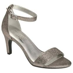 Women's Aerosoles Laminate Ankle Strap Sandal Silver Metallic
