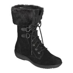 Women's Aerosoles Pinelands Mid Calf Boot Black Suede