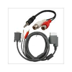 Xbox 360 -  HD VGA AV Cable + RCA To 3.5MM Adapter - By Eforcity