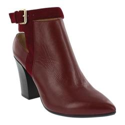 Women's Nicole Miller Ginger Slingback Bootie Ox Blood Suede/Leather