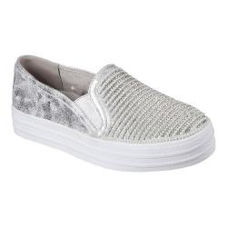 Women's Skechers OG 97 Double Up Shiny Dancer Slip On Sneaker Silver
