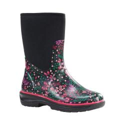 Women's Western Chief Butterfly Woods Floral Neoprene Mid Rain Boot Black