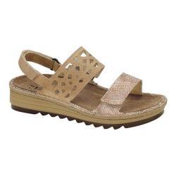 Women's Naot Acacia Slingback Sandal Beige Snake Leather/Khaki Beige Leather