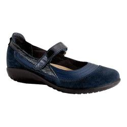 Women's Naot Kirei Mary Jane Polar Sea Leather/Blue Velvet Suede/Navy Patent