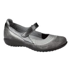 Women's Naot Kirei Mary Jane Sterling/Gray Shimmer Leather/Gray Patent