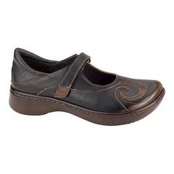 Women's Naot Sea Mary Jane Volcanic Brown Leather/Bronze Shimmer Suede