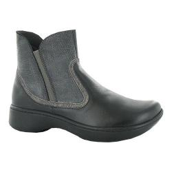 Women's Naot Surge Ankle Boot Black Raven/Reptile Gray/Gray Shimmer Leather