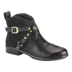 Women's Naot Taku Ankle Boot Black Raven/Black Velvet Nubuck/Black Madras