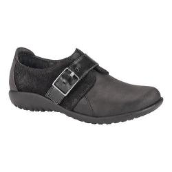 Women's Naot Tane Buckled Slip-On Oily Coal/Black/Black Madras Nubuck/Suede/Leather