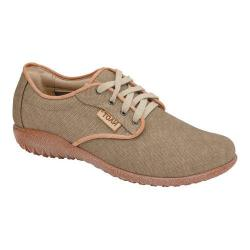 Women's Naot Tiaki Lace Up Shoe Khaki/Biscuit Leather