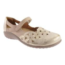 Women's Naot Toatoa Dusty Silver Leather/Linen Leather