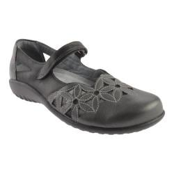 Women's Naot Toatoa Jet Black/Metallic Road Leather