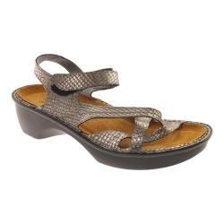 Women's Naot Paris Sandal Grey Lizard Leather