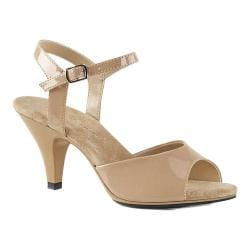 Women's Fabulicious Belle 309 Ankle-Strap Sandal Nude Patent/Nude