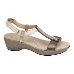 Women's Naot Marsanne T Strap Sandal Pewter/Dusty Silver/Satin Gold/Pewter Leather