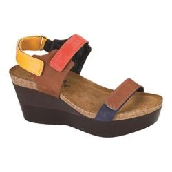 Women's Naot Miracle Hawaiian Brown Nubuck/Orange/Sunshine Leather