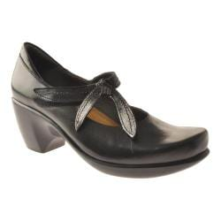 Women's Naot Pleasure Mary Jane Midnight Black Leather
