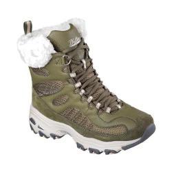 Women's Skechers D'Lites Chalet Lace Up Boot Olive