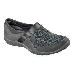 Women's Skechers Relaxed Fit Breathe Easy Deal Me In Slip On Shoe Charcoal