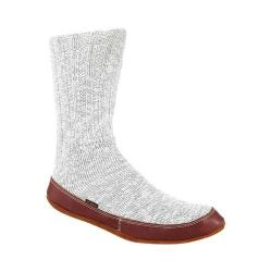 Acorn Slipper Sock Light Grey Cotton Twist