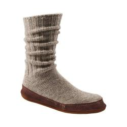 Acorn Slipper Sock Light Grey Ragg Wool