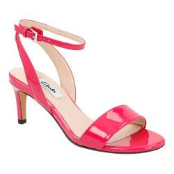 Women's Clarks Amali Jewel Ankle Strap Sandal Fuchsia Patent Leather