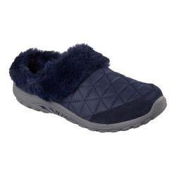Women's Skechers Relaxed Fit Reggae Fest Fuzzy Vibes Clog Navy