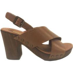 Women's Kenneth Cole Reaction Log Cabin Clog Sandal Tan Leather