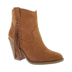 Women's Portland Boot Company Fly Fringe Ankle Boot Walnut