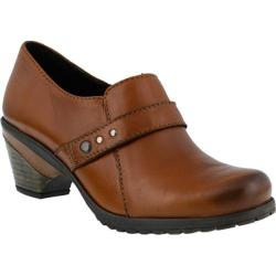 Women's Spring Step Yejide Slip On Medium Brown Leather