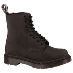 Women's Dr. Martens 1460 Fur Lined 8 Eye Boot Black Cascade Split