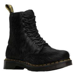 Women's Dr. Martens 1460 Peloso 8 Eye Boot Black Horsey Long Hair