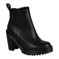 Women's Dr. Martens Magdalena Fur Lined Ankle Zip Boot Black Stone