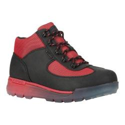 Men's Lugz Flank Hiking Boot Black/Mars Red/Clear Durabrush 21972029