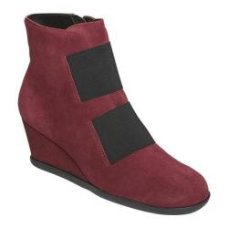 Women's Aerosoles Get-Fit Ankle Bootie Wine Suede