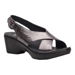Women's Dansko Jacinda Slingback Pewter Metallic Leather