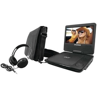 Sylvania SDVD7075 Combo 7-inch Portable DVD Player Bundle with Oversize Headphones and Deluxe Travel Bag