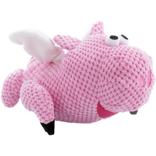 GoDog Checkers Flying Pig With Chew Guard Large