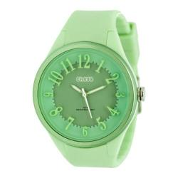 Women's Crayo Burst Ladies Quartz Watch Mint Silicone/Multicolor