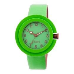 Men's Crayo Equinox Quartz Watch Green Rubber/Green