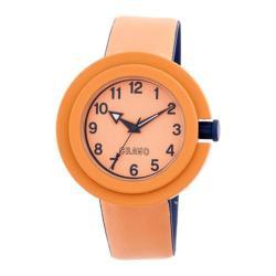 Men's Crayo Equinox Quartz Watch Orange Rubber/Orange
