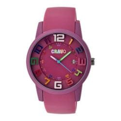 Men's Crayo Festival Quartz Watch Fushia Silicone/Fushia