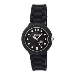 Men's Crayo Muse Quartz Watch Black Silicone/Black